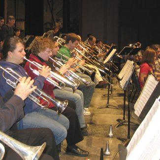 Alumni Band rehearsal 2006