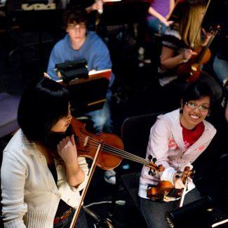 UTSO rehearsal candid shot, 2009.