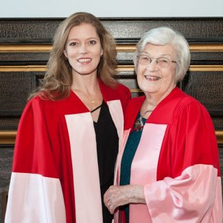 Honorary Degree recipients Drs. Barbara Hannigan and Mary Morrison, U of T Fall Convocation 2017