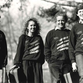 Orford String Quartet, promotional photo. OSQ began their residency at the Faculty of Music in 1968.