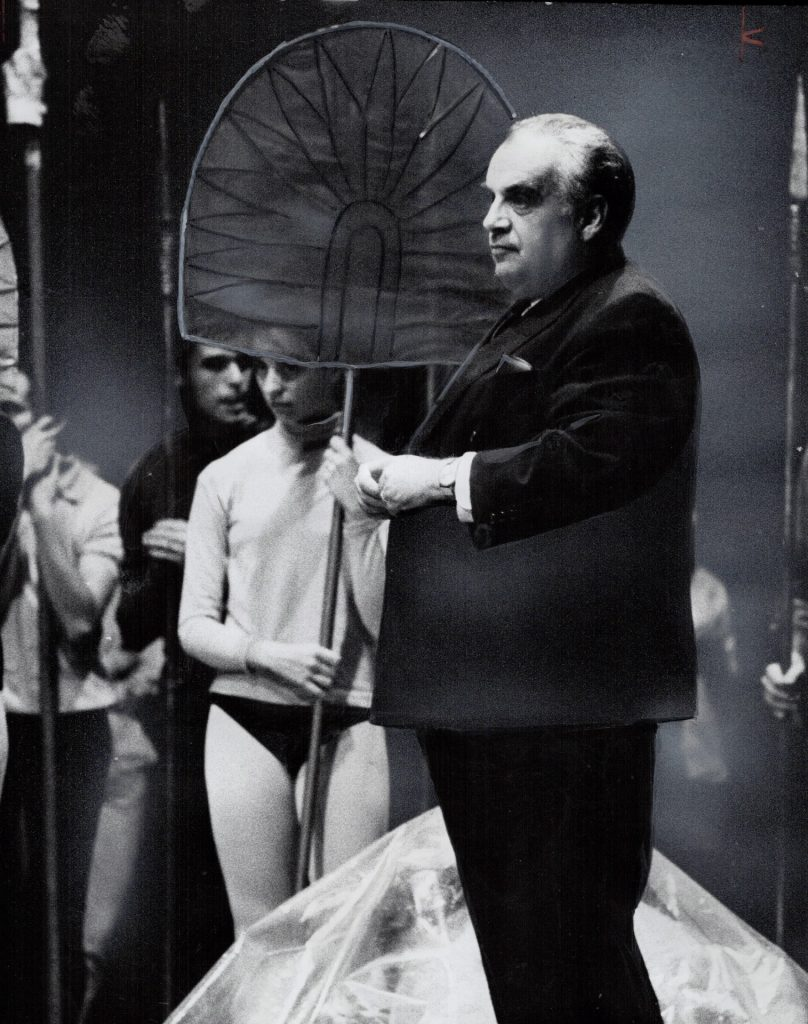Herman Geiger-Torel 1968 by Jeff Goode, in rehearsal via TPL archives
