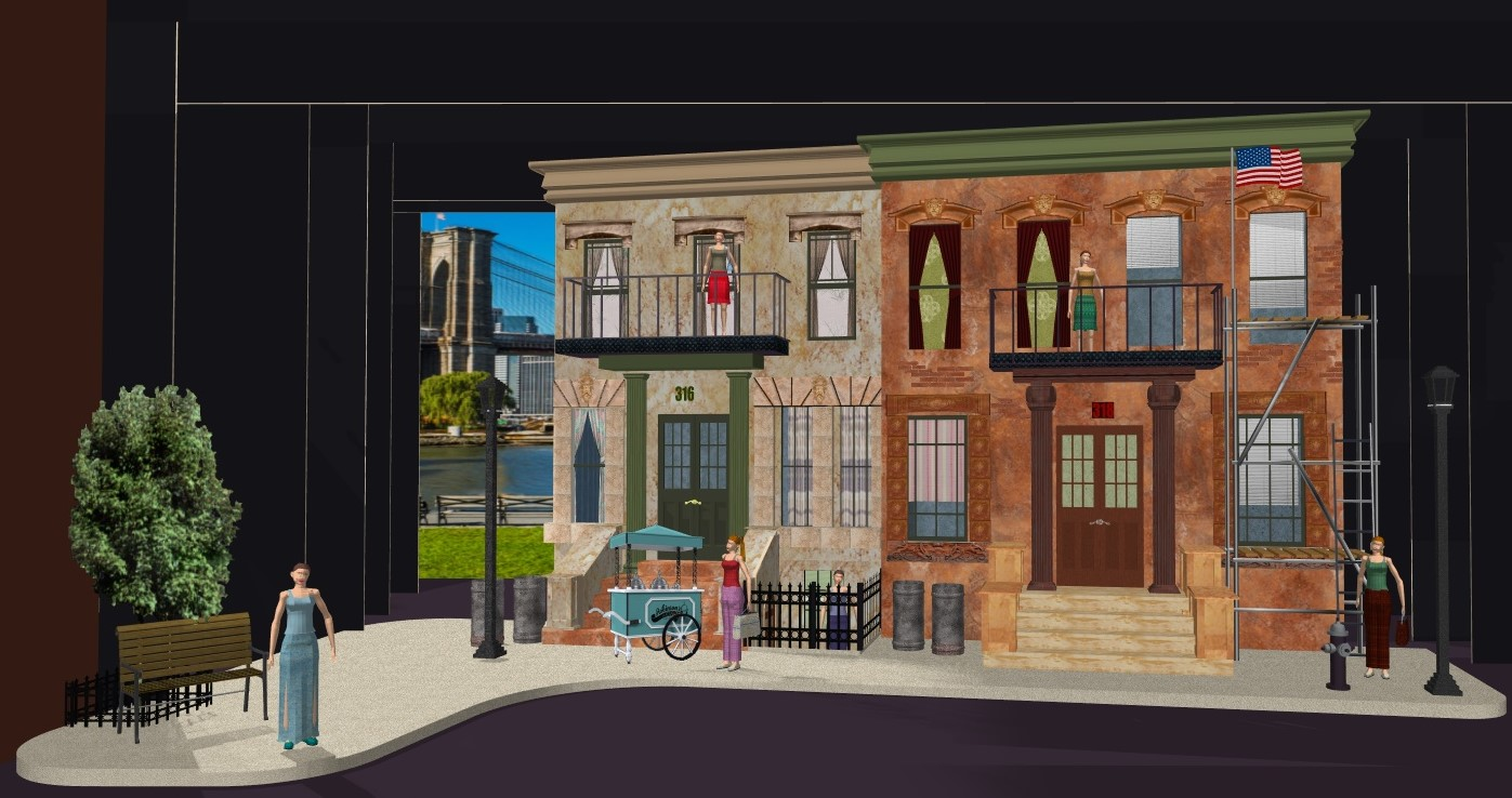 Street Scene 2018 set design by Fred Perruzza