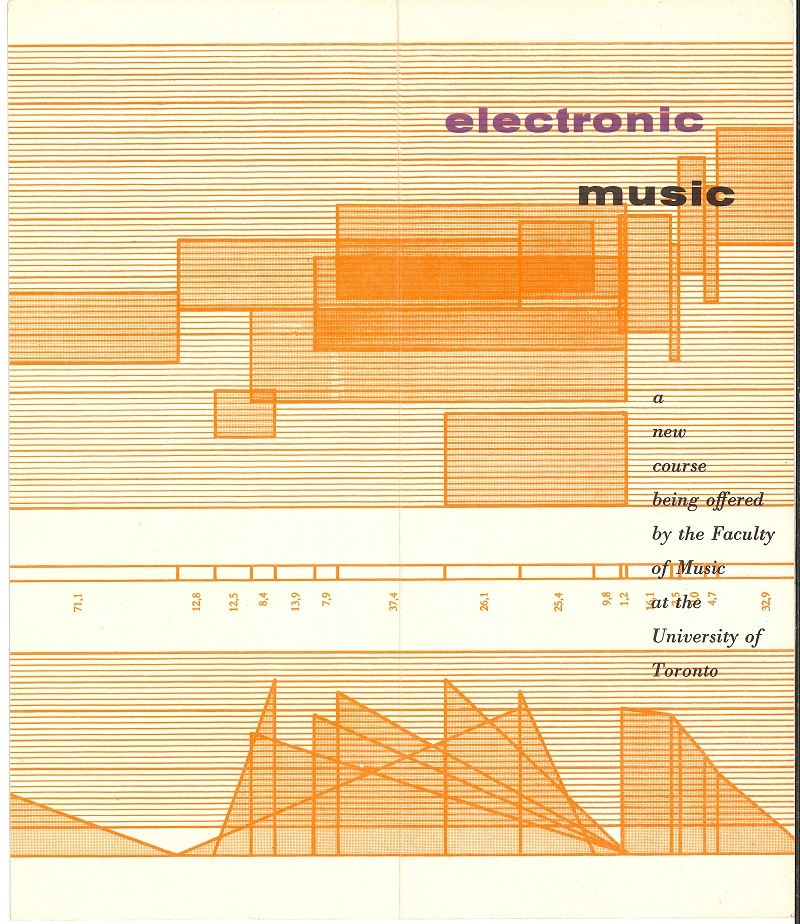 Electronic Music brochure UofT Music p1of2 1963