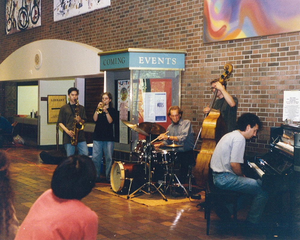 Jazz quintet in EJB lobby 1996